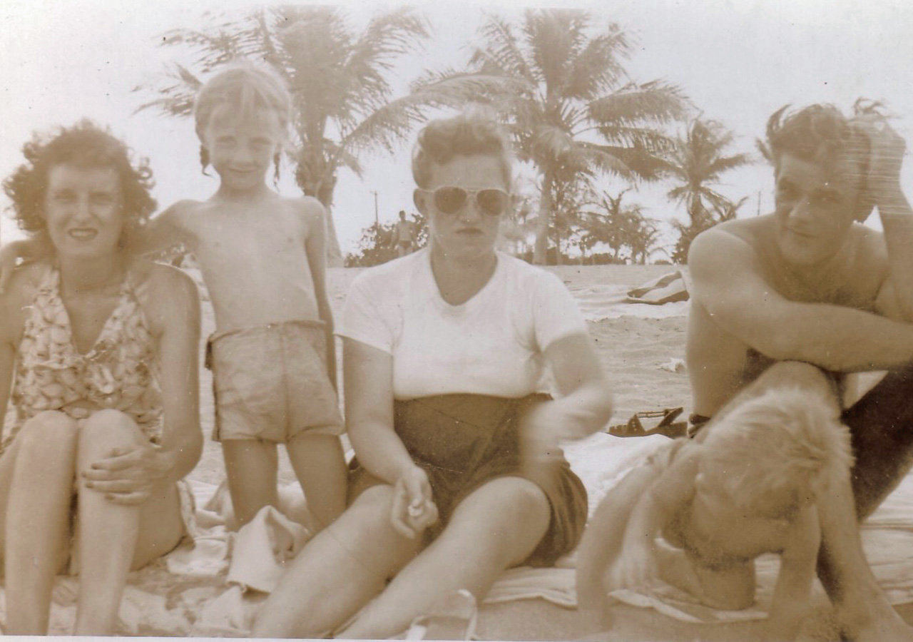 1960s family on beach